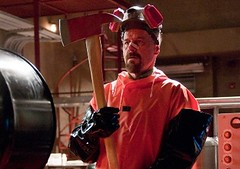 Walt gets prepared to destroy the superlab