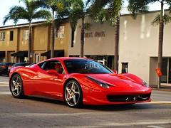 [フリー画像素材] 乗り物・交通, 自動車, フェラーリ, フェラーリ 458 イタリア ID:201110140600