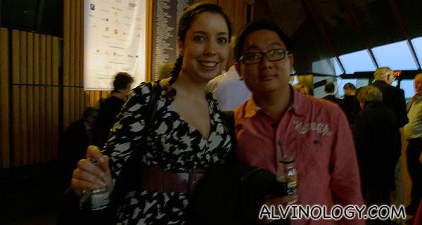 Me with bubbly Anna from Opera Australia