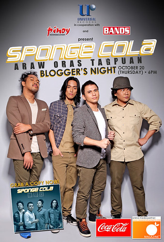 Sponge Cola Bloggers Night poster