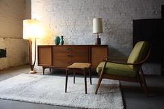 Timeless Kent Coffey MCM Credenza/ Dresser (Walnut & Elm w/ Caned Door Fronts, 1960) (Kennyk@k2modern.com) Tags: modern century kent walnut elm mid credenza coffey