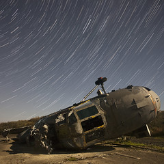 The Only Way is Wessex? ([Nocturne]) Tags: nightphotography lightpainting abandoned window stars upsidedown south smashed nocturne wrecked raf helecopter wessex noctography wwwnoctographycouk