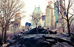 (*alicja*) Tags: color film 35mm march centralpark picture cliffs lovely canonae1program essexhouse 2011