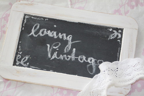 Vintage blackboard by sewingamelie by liebesgut