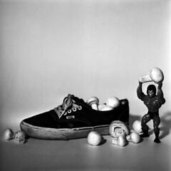 Athlete's foot (martinkozak) Tags: light skeleton shoe hasselblad buttcrack fungus pro vans rodinal ilford heman delta400 500cm athletesfoot standdevoloping