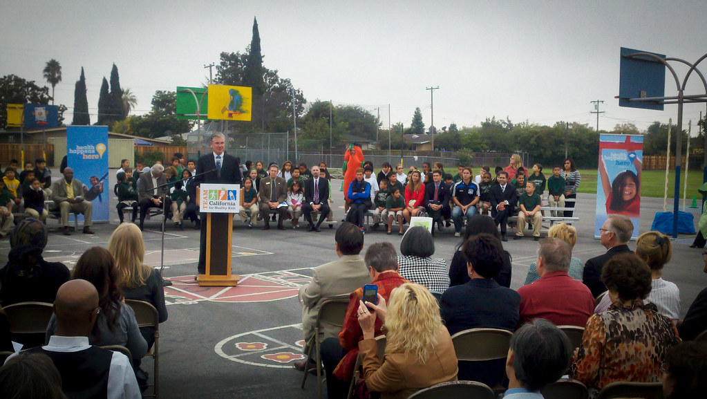 Team California for Healthy Kids launch at Ryan Elementary School in San Jose, CA