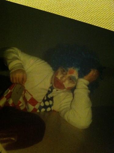 Halloween Past - sad clown