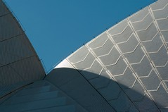 Jrn Utzon_Sydney Opera House #3 (Ximo Michavila) Tags: blue shadow sunlight abstract geometric lines architecture ceramic opera curves perspective sydney australia diagonal repetition parallels auditorium utzon ximomichavila