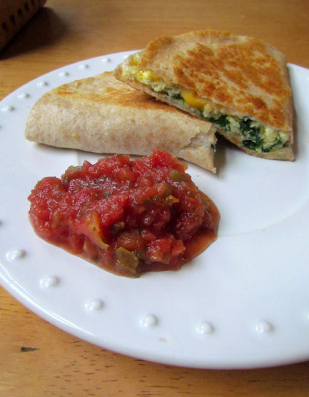 Egg Quesadillas with Salsa