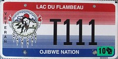 Lac Du Flambeau Ojibwe Nation Truck Veteran Flat License Plate (Suko's License Plates) Tags: plaque native indian nation band plate tribal licenseplate license tribe veteran placa patente targa matricula kennzeichen lacduflambeau ojibwe targhe numbertag nummerschild plaqueimmatriculation triballicenseplates indiantribeslicenseplates lacduflambeauojibwe