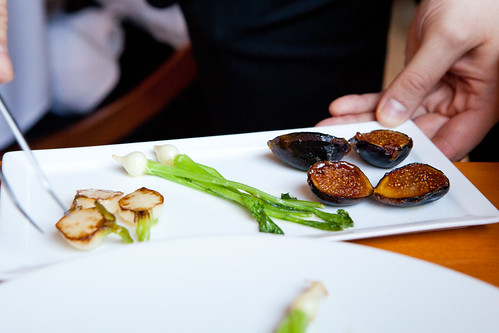 Plate of roasted/caramelized turnips and figs