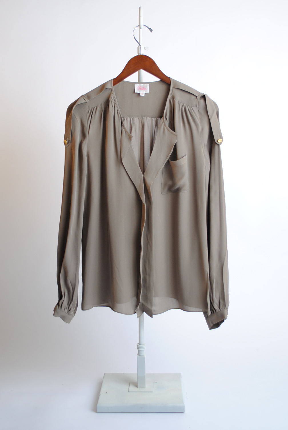 One Pocket Tab Blouse