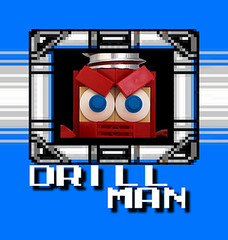 Drill Man Stage Select (bruceywan) Tags: man toy robot lego dr 4 sprite cossack master iv photostream drill 027 mega wily megaman dwn drillman  drillbomb brucelowellcom