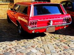 Ford Mustang GT Sport Wagon (Transaxle (alias Toprope)) Tags: ford mustang gt sportwagon wagon station shootingbrake musclecar muscle car american auto autos automobil automobile carro carros coche coches macchina macchine voiture voitures soul beauty power toprope nikon wiebestrasse altmoabit classics classic classicremise meilenwerk berlin 1968 estate showcar red engine 302cui cobra cobradressed 5litre c6 c6automatic c6gearbox discbrakes chrome dressupkit chromerims crager us usa dream 2000views kraftfahrzeuge cars السيارات 車 clasicos antiguos vintage retro autoretro 10favs 15favs 40favs 10000views 10000 15000views 15000 8favs 50favs bunt