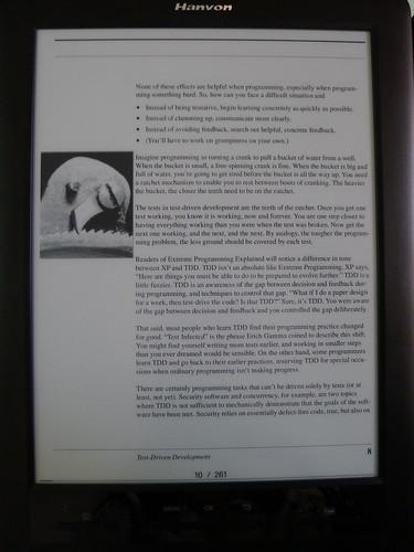 E920 顯示 PDF 時的畫面