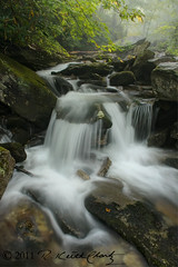 splashing cascade at boone fork (R. Keith Clontz) Tags: mist misty fog rocky northcarolina boulders rhododendron grandfathermountain boonefork splashingwater mossyrocks rkeithclontz blueridgepics roanmountainphotography northcarolanamountainsphotography roanmountainphotographer