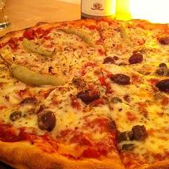Friday night is pizza night.
