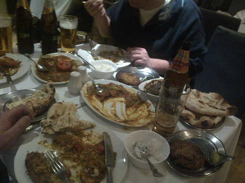 A mess of Indian at the Blue Bengal