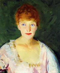 Lucie in 1915 - artist Robert Henri