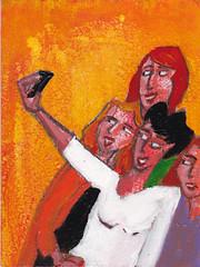 # 1822 me & my mobile (h e r m a n) Tags: camera girls friends art apple painting photo phone shot kunst schilderij herman mobilephone girlfriends meisjes mobiel iphone vriendinnen kiek fotohokje kiekje meandmymobile
