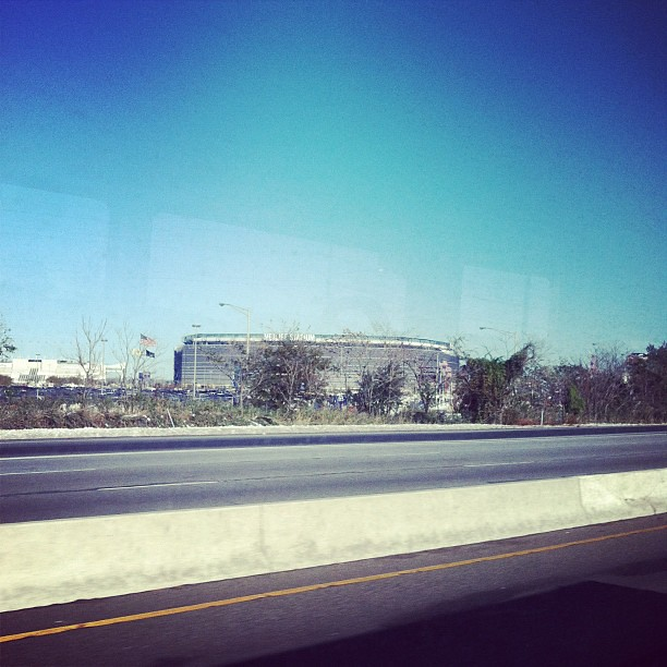 Giants stadium from the bus