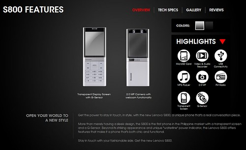Lenovo Mobile S800