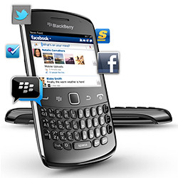 The BlackBerry Curve 9360 focuses on providing a smooth social experience.
