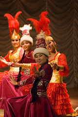 Kazakh Quad (berik) Tags: music four costume concert women dancers stage traditional performance hats quad national dresses centralasia kazakhstan atyrau