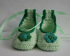 baby ballet shoes (epka handmade) Tags: babybooties crochetbabybooties babyballetshoes crochetbabyclothes