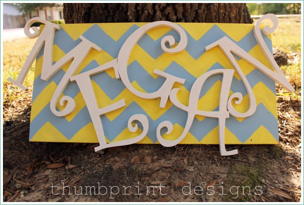 chevron thumbprint