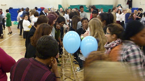 LEYF build rollercoaster at Annual Staff Conference