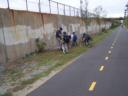 Children bicycling to school on the Metropolitan Branch Trail, DC