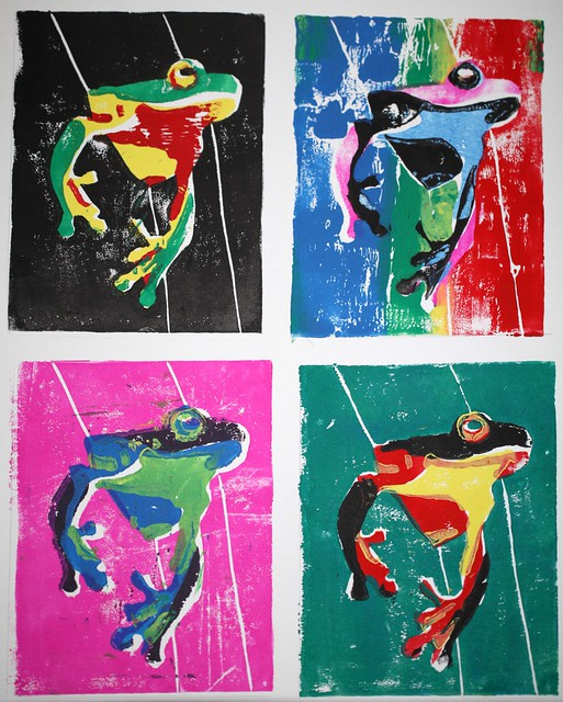 Colorful Frog Prints