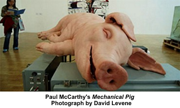 Paul McCarthy's Mechanical Pig Photograph by David Levene by artimageslibrary
