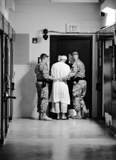 From http://www.flickr.com/photos/28650594@N03/6323033011/: Inside JTF Guantanamo Camps 5 & 6 [Image 1 of 23] Detainee being held at Guantanmamo Prison complex