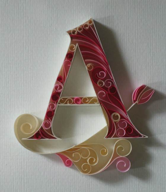 letras a papel