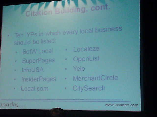 Google Places and Local Optimization