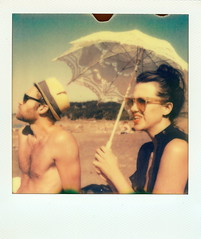 Sur la plage (Jetsetter23) Tags: sanfrancisco polaroid sx70 october brunch bakerbeach sundays 2011 px70 theimpossibleproject