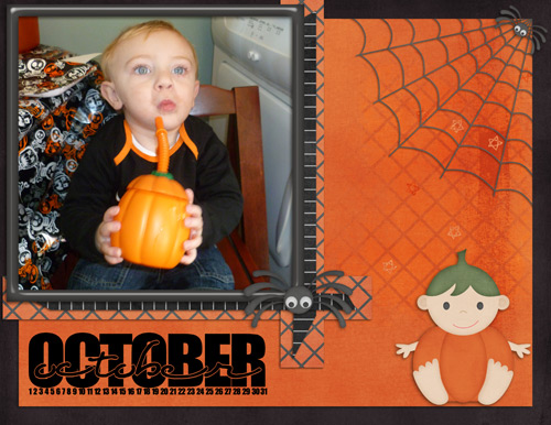October Calendar Page by Lukasmummy