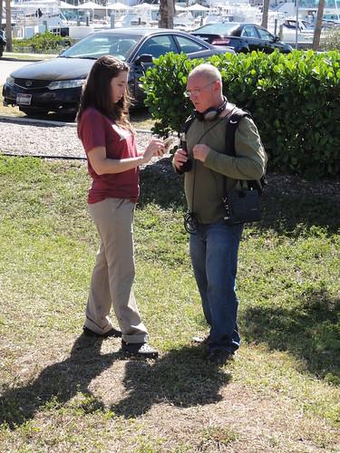 A reporter at Occupy Sarasota