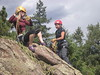 Erin Belaying Chris up to Anchor