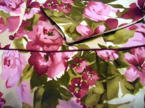floral peony - piping at waistline