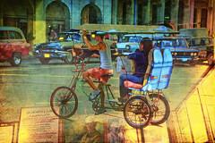 Viva La Habana (Artypixall) Tags: texture havana cuba streetscene juxtaposition lahabana velotaxi