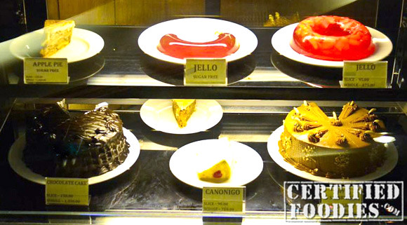 Display of cakes and sweets at Mario's