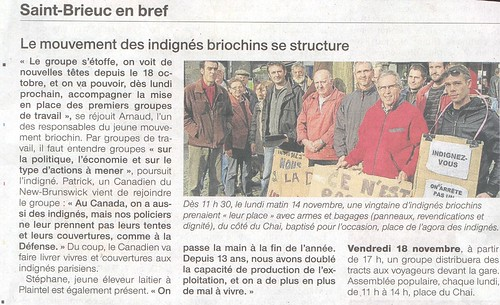 Article Ouest-France 15 Novembre 2011