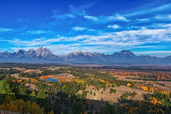 Morning at Hedrick Pond Overlook (txcraig75) Tags: autumn foliage cottonwood snakeriver wyoming aspen grandtetonnationalpark gtnp tetoncounty cathedralgroup canon1740mm hedrickpond canon7d hedrickpondoverlook hedrickpoint
