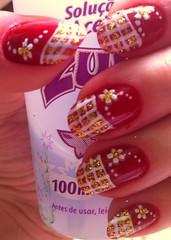 Final (Ariane Haselmann) Tags: glitter flor unha adesivo esmalte francesinha artística quadriculada
