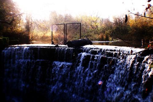 Waterfall in Autumn at Rouken Glen