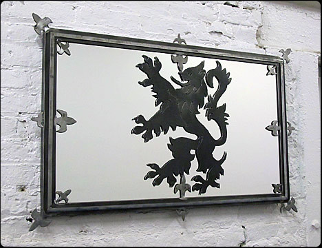 Lion Rampant Scottish Steel Mirror