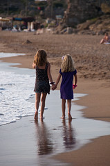 Sisters... proof that they do like each other (AnneCN) Tags: ocean travel vacation beach water strand sisters turkey sand nikon waves side shoreline traveling ferie vann reise hav bølger d90 tyrkia søstre nikond90
